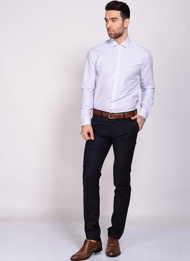 Cotton Bar Uzun Kollu Çizgili Gömlek Mavi
